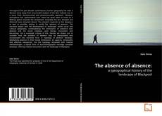The absence of absence: kitap kapağı