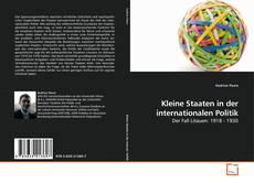 Couverture de Kleine Staaten in der internationalen Politik