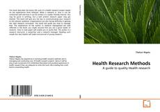 Copertina di Health Research Methods
