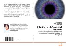 Bookcover of Inheritance of Congenital Blindness