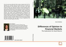 Borítókép a  Differences of Opinion in Financial Markets - hoz