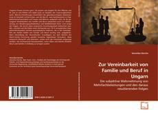 Buchcover von Zur Vereinbarkeit von Familie und Beruf in Ungarn