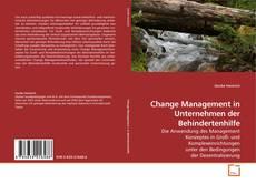 Bookcover of Change Management in Unternehmen der Behindertenhilfe