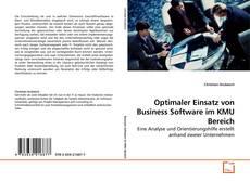 Bookcover of Optimaler Einsatz von Business Software im KMU Bereich