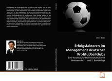 Buchcover von Erfolgsfaktoren im Management deutscher Profifußballclubs