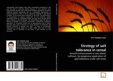 Bookcover of Strategy of salt tolerance in cereal