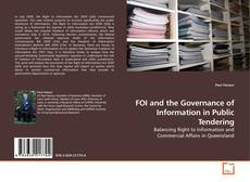 Copertina di FOI and the Governance of Information in Public Tendering