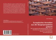 Capa do livro de Europäisches Verwalten aus der Bürgerperspektive gedacht