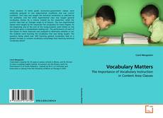 Bookcover of Vocabulary Matters