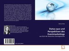 Capa do livro de Status quo und Perspektiven des Eventmarketings