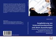 Buchcover von Ausgliederung von Unternehmensbereichen und deren Auswirkungen