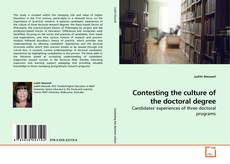 Обложка Contesting the culture of the doctoral degree