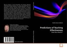 Bookcover of Predictions of Teaching Effectiveness