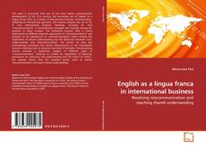 Bookcover of English as a lingua franca in international business