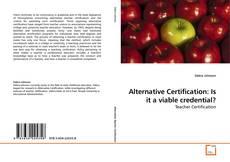 Buchcover von Alternative Certification: Is it a viable credential?