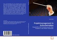 Copertina di Projektmanagement in Kulturbetrieben