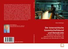 Buchcover von Der österreichische Gewerkschaftsbund und Demokratie