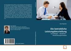 Buchcover von Die betriebliche Leistungsbeurteilung