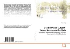 Bookcover of Usability and Subject-based Access on the Web