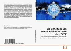 Capa do livro de Die Einhaltung von Publizitätspflichten nach dem ÖCGK