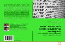 Couverture de FUZZY DIMENSION OF MODULES OVER RINGS (Monograph)