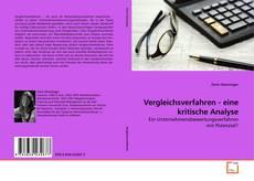Buchcover von Vergleichsverfahren - eine kritische Analyse
