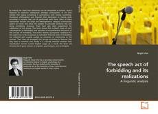 Обложка The speech act of forbidding and its realizations