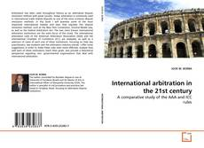 Couverture de International arbitration in the 21st century