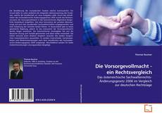 Buchcover von Die Vorsorgevollmacht - ein Rechtsvergleich