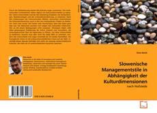 Borítókép a  Slowenische Managementstile in Abhängigkeit der Kulturdimensionen - hoz