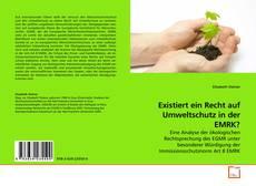 Bookcover of Existiert ein Recht auf Umweltschutz in der EMRK?