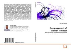 Portada del libro de Empowerment of Women in Nepal