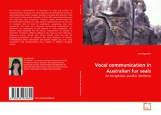 Copertina di Vocal communication in Australian fur seals