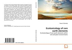 Buchcover von Ecotoxicology of rare earth elements