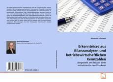 Buchcover von Erkenntnisse aus Bilanzanalysen und betriebswirtschaftlichen Kennzahlen