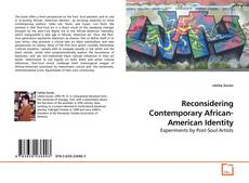 Bookcover of Reconsidering Contemporary African-American Identity