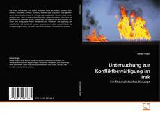 Untersuchung zur Konfliktbewältigung im Irak kitap kapağı