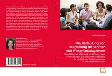Buchcover von Die Bedeutung von Storytelling im Rahmen von Wissensmanagement