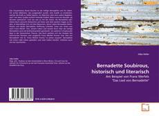 Buchcover von Bernadette Soubirous, historisch und literarisch