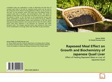Capa do livro de Rapeseed Meal Effect on Growth and Biochemistry of Japanese Quail Liver