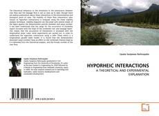 Couverture de HYPORHEIC INTERACTIONS
