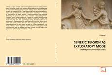 Couverture de GENERIC TENSION AS EXPLORATORY MODE