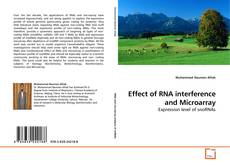 Capa do livro de Effect of RNA interference and Microarray