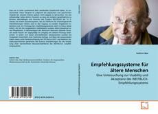 Bookcover of Empfehlungssysteme für ältere Menschen
