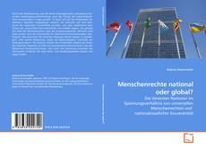 Bookcover of Menschenrechte national oder global?
