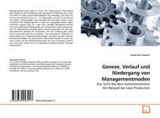 Portada del libro de Genese, Verlauf und Niedergang von Managementmoden