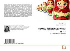 Buchcover von HUMAN RESILIENCE: WHAT IS IT?