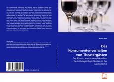 Bookcover of Das Konsumentenverhalten von Theatergästen