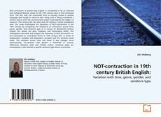 Bookcover of NOT-contraction in 19th century British English: