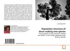 Buchcover von Population structure of drum making tree species